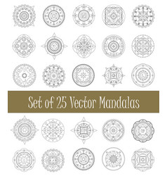 set of mandala ornament for graphic design and vector image