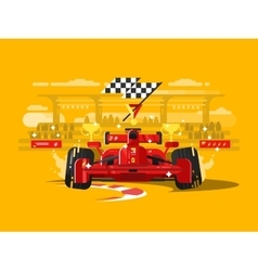 Sport car formula one vector image vector image