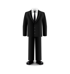 businessman suit isolated on white vector image