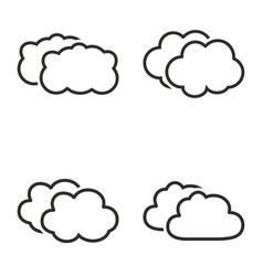 clouds sky icon set vector image vector image