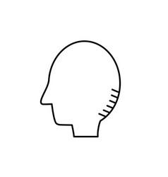 line silhouette side man head design vector image