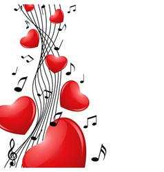 singing heart vector image