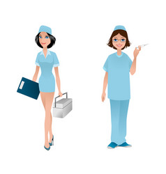 two friendly doctors vector image vector image