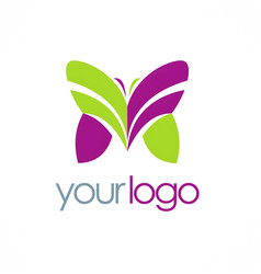 Butterfly colored beauty logo vector