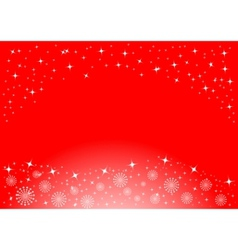christmas background with white snowflakes and sta vector image