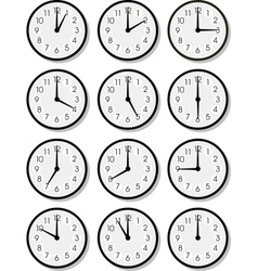 clock faces vector image vector image