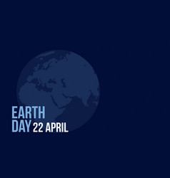 style earth day blue background vector image