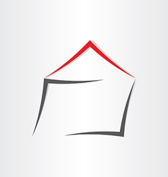 stylized house home icon vector image