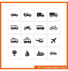 transportation icons set vector image