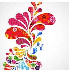 Floral and ornamental vector image