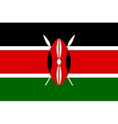 Kenyan flag vector image vector image