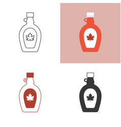 maple syrup icon set vector image vector image