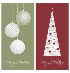 red and green christmas card backgrounds vector image vector image