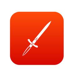 sword icon digital red vector image vector image
