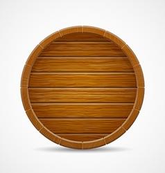Wooden barrel top end background vector