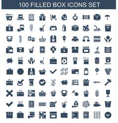 100 box icons vector