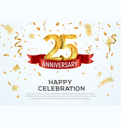 25 years anniversary banner template vector image