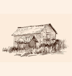 a village house vector image