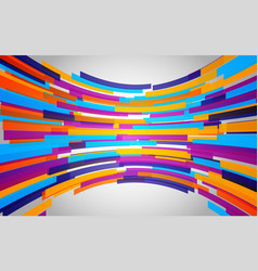 Abstract background with color bent lines dynamic vector