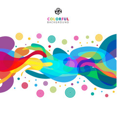 Abstract colorful color splash on white vector