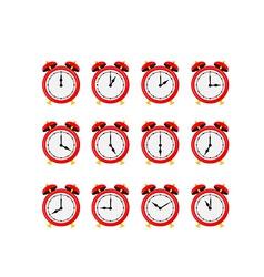 Alarm clock set vector image
