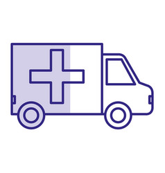 ambulance vehicle isolated icon vector image