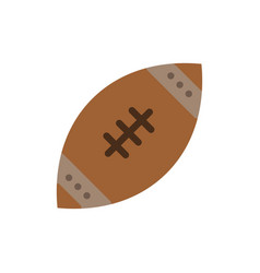 American ball football nfl rugflat color icon vector