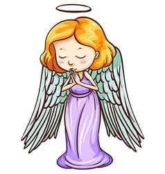 An angel praying vector image