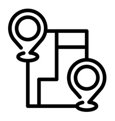 Avenue itinerary icon outline style vector