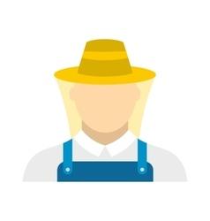 Beekeeper flat icon vector