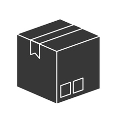 Box package delivery icon vector image