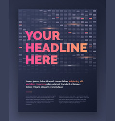 Brochure layout template design in techno style vector