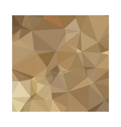 Burlywood Brown Abstract Low Polygon Background vector image