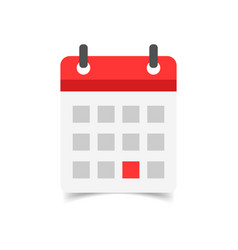 calendar agenda icon in flat style reminder on vector image