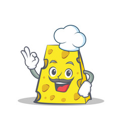 Chef cheese character cartoon style vector