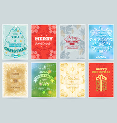 christmas card merry winter holiday vector image