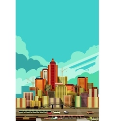 Cityscape view of the city vector image vector image