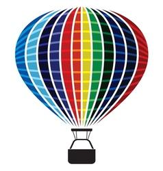 Colored Air balloon vector