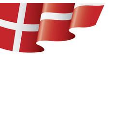 denmark flag on a white vector image