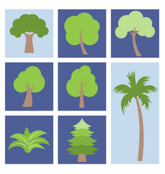 different simple tree icon flat design vector image