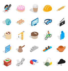 engineering tool icons set isometric style vector image