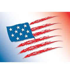 Flag of America color vector image