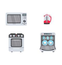 Flat consumer electronics icon set vector