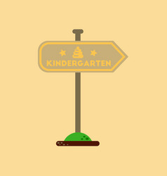 Flat icon on background sign kindergarten vector