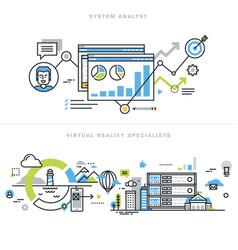 flat line design concepts vector image