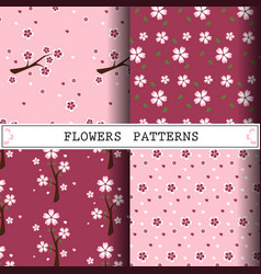 flower pattern cherryblossom pattern design web vector image