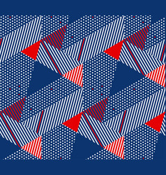 geometric color seamless pattern vector image