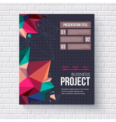 Geometric design template for a business project vector image