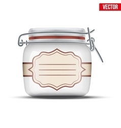 Glass Jar for canning vector