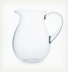 Glass jug vector image